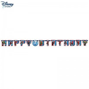 (Official Site Disney) - Avengers, festone Happy birthday personalizzato Prezzo a Sconto 57%