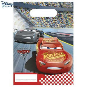 Disney Pixar Cars 3, 6 sacchettini Con Nice Price & Negozio Disney