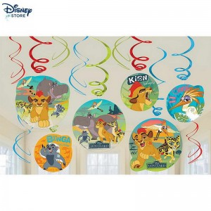 [Vendita Online Disney] The Lion Guard, 6 decorazioni a spirale per festa Su Discount