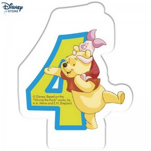 Vendita Online Disneyinnie the Pooh, candelina per compleanno, 4 anni 48% Spento