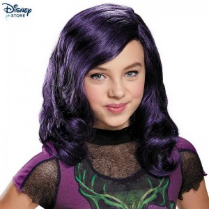 Parrucca viola bimbi Mal di Disney Descendants Su Discount  (Official Site Disney)