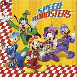 Mickey and the Roadster Racers, 20 tovaglioli di carta Con Spedizione Rapida - {Vendita Online Disney}
