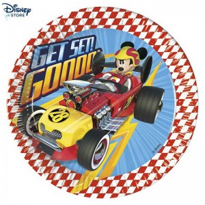 Mickey and the Roadster Racers, 8 piatti di carta Con l'Alto Qulity # (Disney sconto negozio)