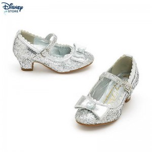 [Sconti Offerte Disney store]isney Princess Silver Glitter Party Shoes For Kids Con Uno Sconto 49%